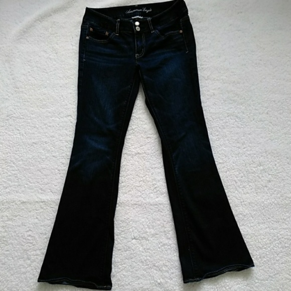 Jeans 2019 Latest Design American Eagle Outfitters Aeo Women's Distressed Artist Jeans 8 Bootcut Euc